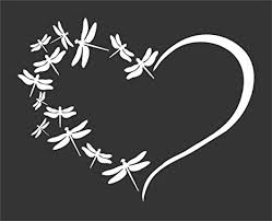 Amazon Com Dragonfly Heart Family Dragonflies Flying Die Cut Vinyl Window Decal Sticker For Car Truck Arts Crafts Sewing