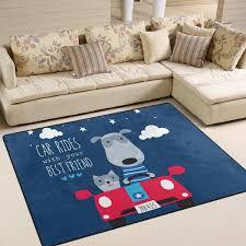 Amazon Com Yzgo Cute Cat Dog Car Rug Kids Children Area Rugs Non Slip Floor Mat Resting Area Doormats Baby