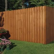 Cedar Tone 6x6 Dog Ear Privacy Fence Panel Kit Yard Home
