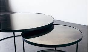 round nesting coffee table set sofa