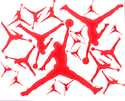 Nba Jordan 23 Jumpman Logo Air Huge Vinyl Decal Sticker For Wall Car Room Windows Red 23 Inches Wall Decals