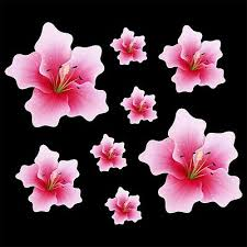 Pink Lily Flower Set Of 8 Car Sticker Decal Quality Vinyl Stickers Ebay