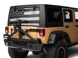 Sec10 Jeep Wrangler Perforated Distressed Flag Rear Window Decal J108512 87 21 Jeep Wrangler Yj Tj Jk Jl