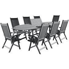 9 piece extendable patio dining set