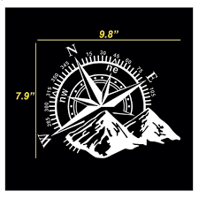 Car Home Decor Compass Rose With Mountains Vinyl Decal Sticker For C Xotic Tech