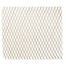 Hampton Bay 48 In H X 120 In L W Bamboo Expandable Willow Fence Or Trellis 4477217 The Home Depot