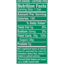 t ginger ale nutrition guide