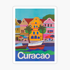 Curacao Netherlands Antilles Vintage Travel Decal Sticker Souvenir Stickers Handmade Products