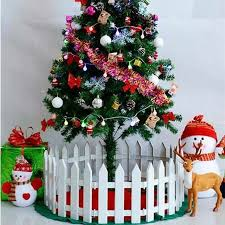 1pc White Christmas Tree Fence Ornaments Plastic Garden Fence Border Panels Splicing Fence Scenes Prop Diy House Christmas Decor Fencing Trellis Gates Aliexpress