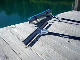 weed cutter and lake rake