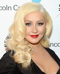 christina aguilera red hair allure