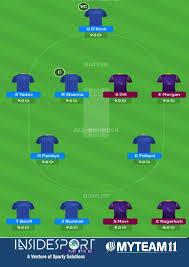 IPL 2020 MI vs KKR MyTeam11 Prediction ...