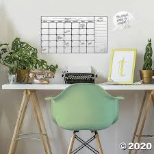 Dry Erase Calendar Peel Stick Wall Decal Oriental Trading