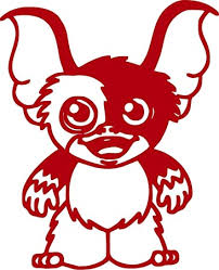 Amazon Com Gismo Gremlin Vinyl Decal Sticker For Window Car Truck Boat Laptop Iphone Wall Motorcycle Helmets Gaming Console Size 9 77 W X 12 H Reflective Red Automotive