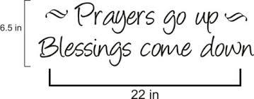 Wandtattoos Wandbilder Prayers Go Up Blessings Come Down Bible Quote Wall Vinyl Decal Mobel Wohnen