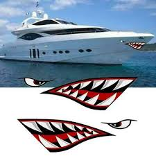 2pcs For Car Side Door D 532 Shark Mouth Tooth Teeth Sticker Pvc Exterior Decal Exterior Accessories Itrainkids Com