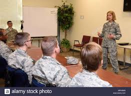 Col. Jennie Johnson, 403rd Wing commander, addresses a group of ...