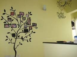 Funny Family Tree Wall Decals To Add Beauty Of Your Room Enticing Family Tree Wall Decal With Black Vinyl Small Trunk Tree Complete Wit Family Tree Wall Sticker Family Tree Wall