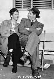 The Fastest Gun Alive — Glenn Ford with actress Adele Jergens on the set...