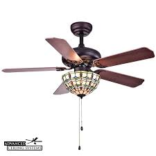 these stained class ceiling fans will