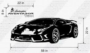 Jcm Custom Tron Lamborghini Aventador Sport Car Removable Wall Vinyl Decal For Sale Online