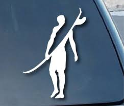 Buy Surfer Surfing Wave Car Window Vinyl Decal Sticker 4 Tall Color White In Cheap Price On Alibaba Com