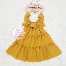váy đôi cho mẹ và bé gái ⚡FREESHIP ⚡ Đầm đôi mẹ lụa vàng bèo Hàng Thiết Kế  Chất Đẹp, giá chỉ 238,000đ! Mua ngay kẻo hết!