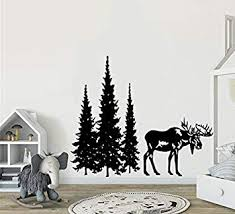 Animals Deer Dreamy Forest With Pine Tree Timber Artbox Nursery Wall Decal Diy Impressive Children Room
