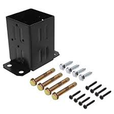 Eapele 4x4 Wood Fence Post Anchor Base 13ga Thick Steel And Black Powder Coated Come With Wood Screws And Concrete Anchors Amazon Com Industrial Scientific