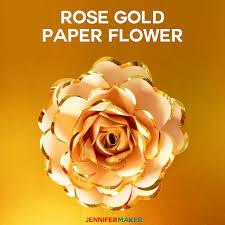 rose gold paper flower foil edged