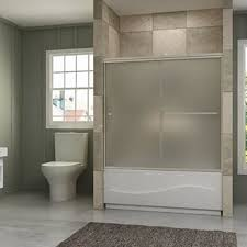 frosted glass bath tub shower
