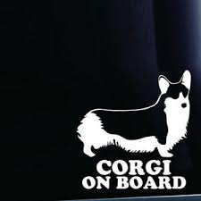 Corgi On Board Dog Pet Puppy Decal Sticker For Car Window Truck Van Suv Pickup Ebay