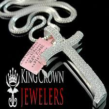 14k white gold on silver initials