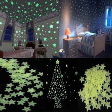 Pcs Set Glow In The Dark Star Wall Stickers For Kids Rooms Independence