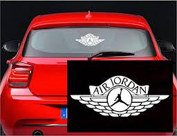 Amazon Com Air Jordan Logo Jumpman 23 Huge Flight Wall Decal Sticker 6 Inches White Kitchen Dining