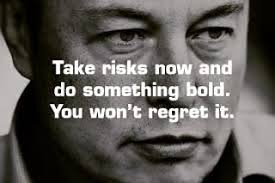 take risks now to do something bold you wont regret it elon musk