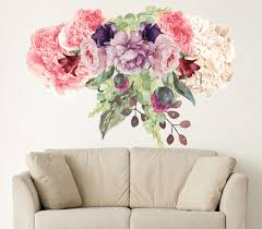 Amazon Com Peony Wall Decals Peony Watercolor Art Girl Nursery Peony Flower New Trendy Stickers Removable Wall Decals Se228 Handmade
