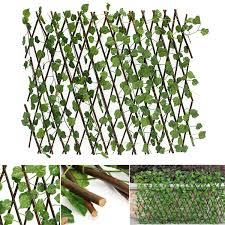 Garden Artificial Faux Ivy Leaf Hedge Panels On Roll Expandable Screen Fence Uk Lazada