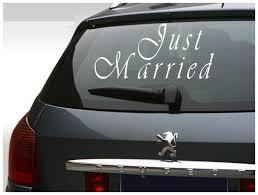 Just Married Vinyl Sticker Car Decal Wedding Decal Bride And Groom Sticker Custom Vinyl Decal Car Decals Vinyl Custom Vinyl