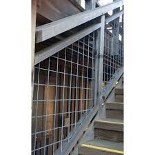 Welded Mesh Stair Fence Rail Panels By Wild Hog Railing Interior Stair Railing Stair Railing Railing