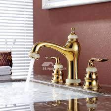 brass bathroom sink faucet polished