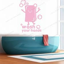 Cute Soap Wall Sticker Vinyl Wall Quote Decals Wash Your Hands Healthy Lifestyle Signs Wall Mural Decal For Home Bathroom Wx53 Wall Stickers Aliexpress