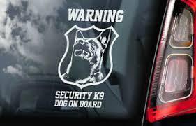 Warning Security K9 Sticker Belgian Malinois Dog Car Stickers Window Decal V08 Ebay