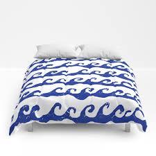 Waves Ocean Nautical Theme Kids Room Nursery Boys Or Girls Decor Comforters By Charlottewinter Society6
