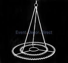 large 2 ring round chandelier frame