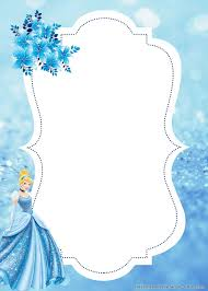Free Printable Lovely Cinderella Birthday Invitation Templates
