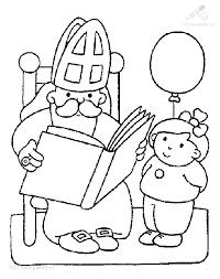 Kleurplaat Kleurplaat Sinterklaas Leest Grote Boek 60 Jpg