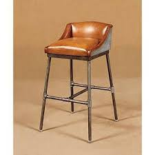 livy industrial leather bar stool
