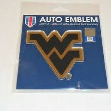 Wvu West Virginia Mountaineers Auto Badge Car Decal Emblem 3x4 Free Shipping Ebay