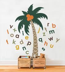 Harriet Bee Alphabet Palm Tree Wall Decal Wayfair